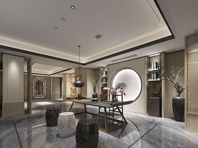 贵阳装修公司_新中式风格茶室装修设计的重要组成部分